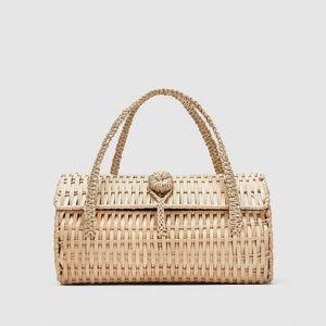 Zara Wicker Handbag